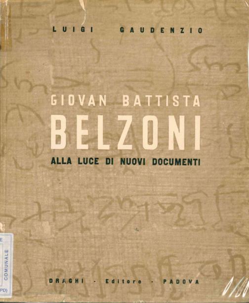 Giovan Battista Belzoni alla luce dei nuovi documenti